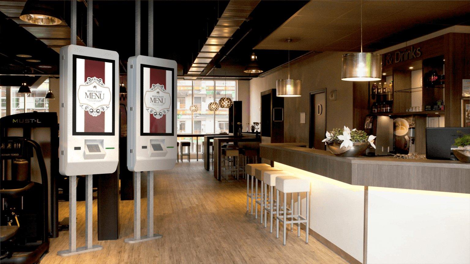Терминалы самообслуживания в ресторанах фаст-фуд