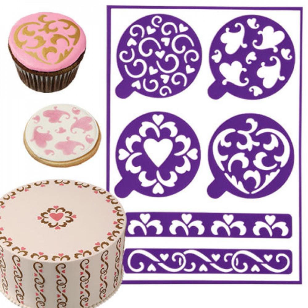 Трафареты для торта и другие способы украшения