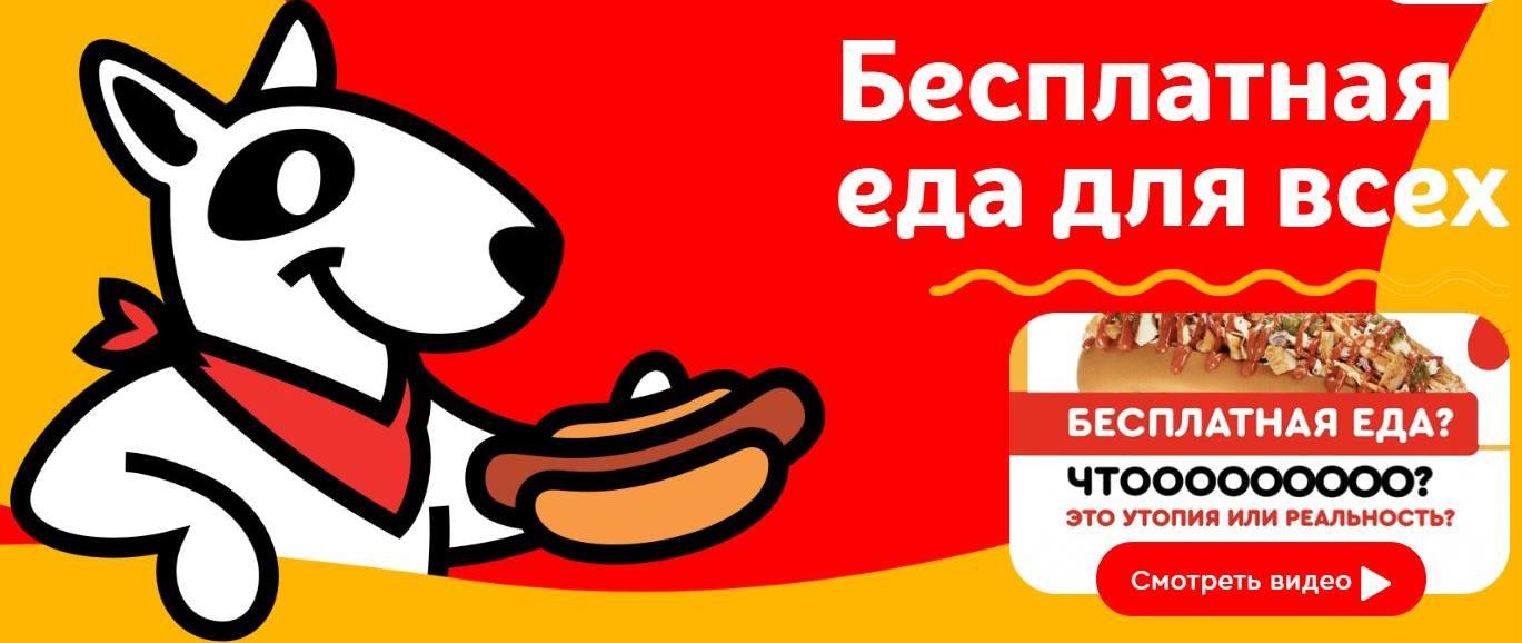 бесплатная еда для всех free dog
