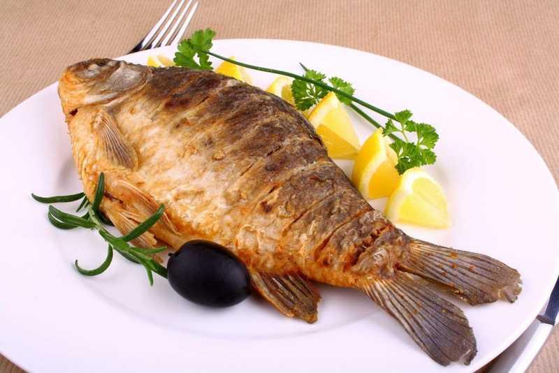 Жареную рыбу