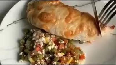 Филе индейки с овощами под сыром