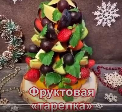 фруктовая нарезка в виде елки
